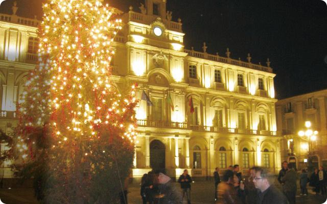 クリスマスのカターニアの街