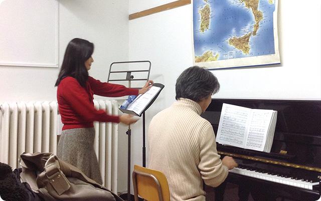 音楽院での練習風景