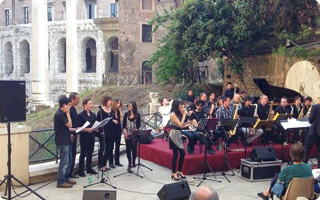 ローマの歴史的中心部でのコンサート