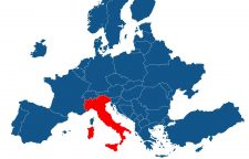 map-europe-with-highlighted-italy
